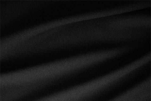 Tessuto Lana Stretch Nero per abbigliamento