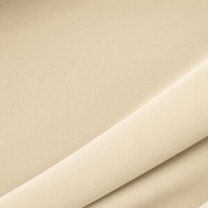 Almond Beige Polyester Lightweight Microfiber Plain fabric for Dress, Jacket, Light Coat, Pants, Skirt.