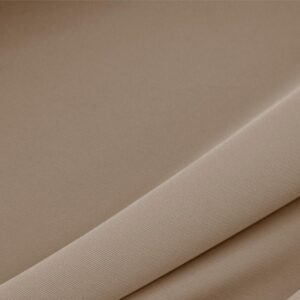 Cappuccino Brown Polyester Lightweight Microfiber Plain fabric for Dress, Jacket, Light Coat, Pants, Skirt.