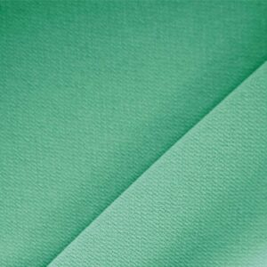 Prato Green Polyester Crêpe Microfiber Plain fabric for Dress, Jacket, Light Coat, Pants, Skirt.