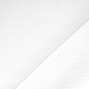 Ottico White Polyester Crêpe Microfiber Plain fabric for Dress, Jacket, Light Coat, Pants, Skirt.
