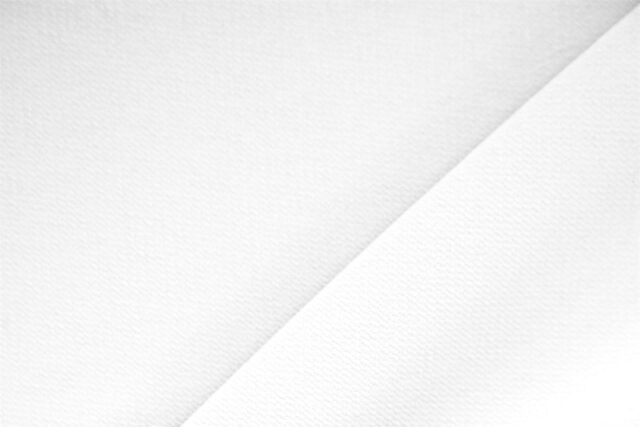 Tessuto Microfibra Poliestere Crepe Bianco Ottico per abbigliamento