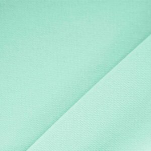 Menta Green Polyester Crêpe Microfiber Plain fabric for Dress, Jacket, Light Coat, Pants, Skirt.