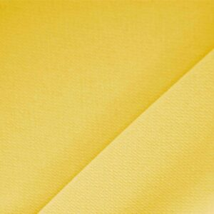 Zafferano Yellow Polyester Crêpe Microfiber Plain fabric for Dress, Jacket, Light Coat, Pants, Skirt.