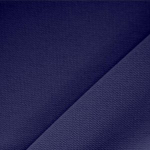 Notte Blue Polyester Crêpe Microfiber Plain fabric for Dress, Jacket, Light Coat, Pants, Skirt.
