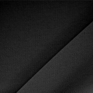 Black Polyester Crêpe Microfiber Plain fabric for Dress, Jacket, Light Coat, Pants, Skirt.