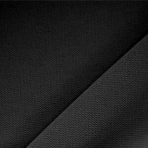 Tissu Uni Microfibre Crêpe Noir en Polyester pour Jupe, Pantalon, Robe, Veste, Veste-Manteau légère.