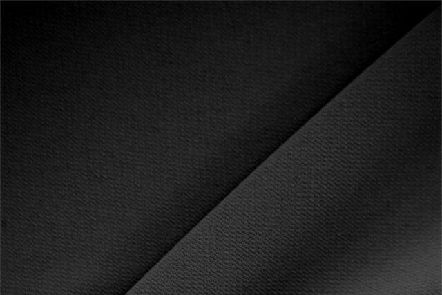 Tessuto Microfibra Crepe nero in poliestere per abbigliamento