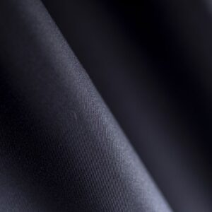 Graphite Black Cotton, Stretch Cotton Gabardine Stretch Plain fabric for Pants.
