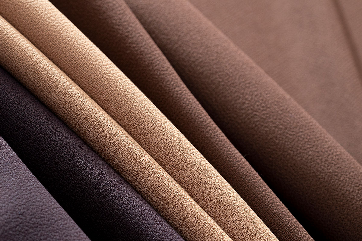 Premium quality double-faced wool crepe fabric for dressmaking | new tess