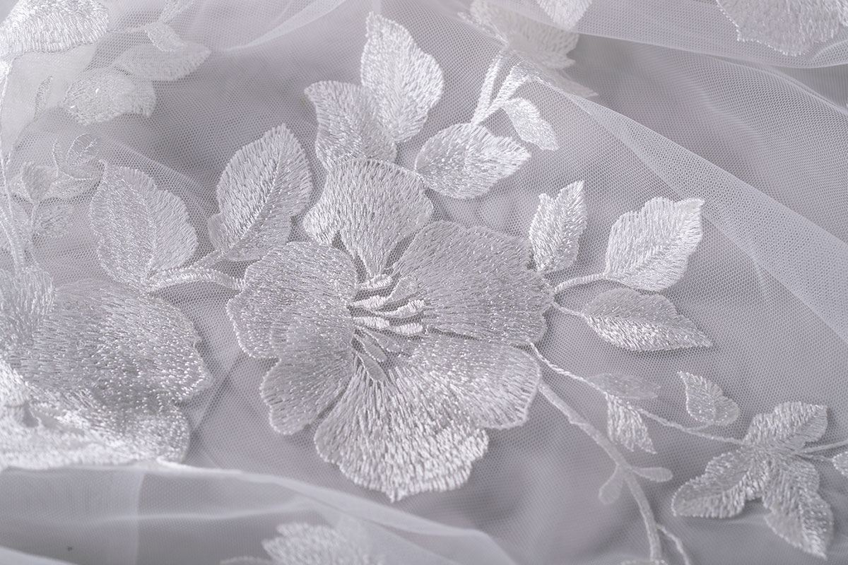 Embroidered Tulle | new tess bridal fabrics