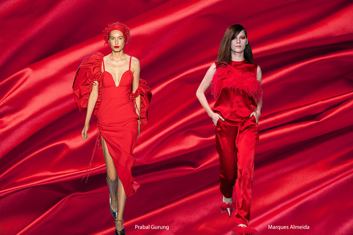 Spring 2020 Color Trends: Fiery Red and Flame Scarlet | new tess fabrics