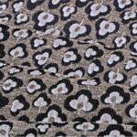 Beige, Gray Trifoglio 000803 Floral Fabric