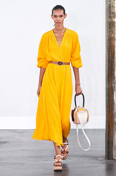 Saffron dress  - Gabriela Hearst Ready-to-Wear Spring 2020