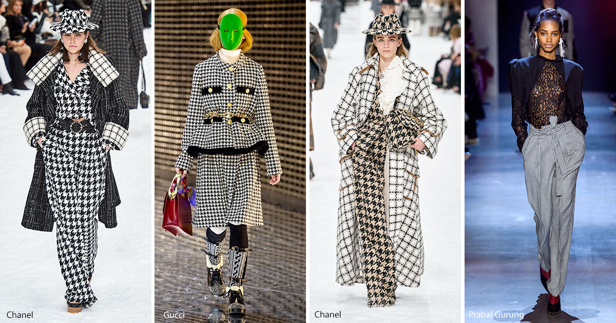 Houndstooth fashion trend fall 2019