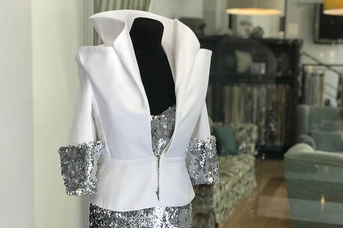 Formal wear silk jacket | new tess fabrics