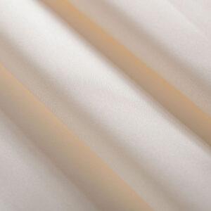 Ivory White Silk Mikado Plain fabric for Wedding dress.