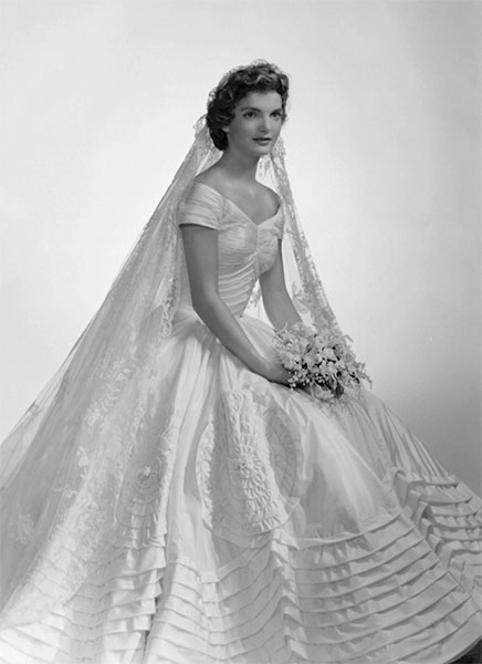 Jackie Kennedy in Ann Lowe wedding dress
