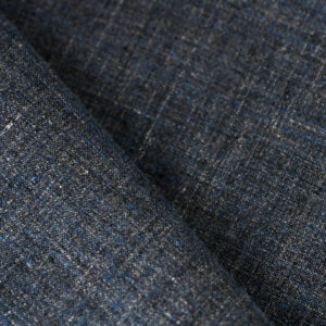 Blue Linen Fine Suit fabric for Jacket, Suit.
