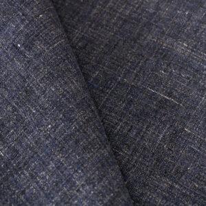 Tissu Tissus pour costumes Bleu en Lin pour Costume, Veste.