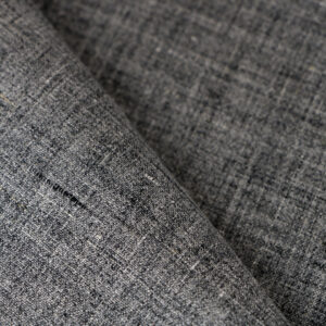 Gray Linen Fine Suit fabric for Jacket, Suit.