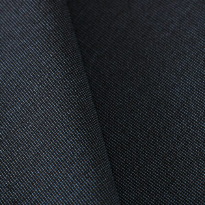 Blue Cotton, Wool Fine Suit fabric for Jacket, Pants, Suit.