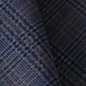 Blue Cotton, Stretch Fine Suit fabric for Jacket.