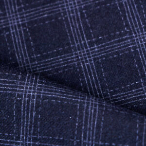 Blue Polyester, Stretch, Wool Fine Suit fabric for Jacket, Pants, Suit.