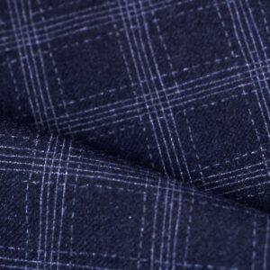 Tessuto Drapperia Blu in Lana, Poliestere, Stretch per Abito Uomo, Giacca, Pantalone.