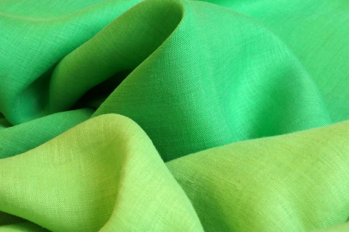 Green linen fabrics for dressmaking | new tess