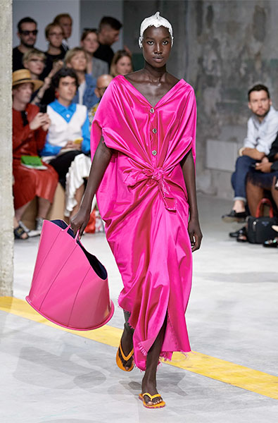 Beetroot Purple dress from Marni Ready-to-Wear Spring 2020
