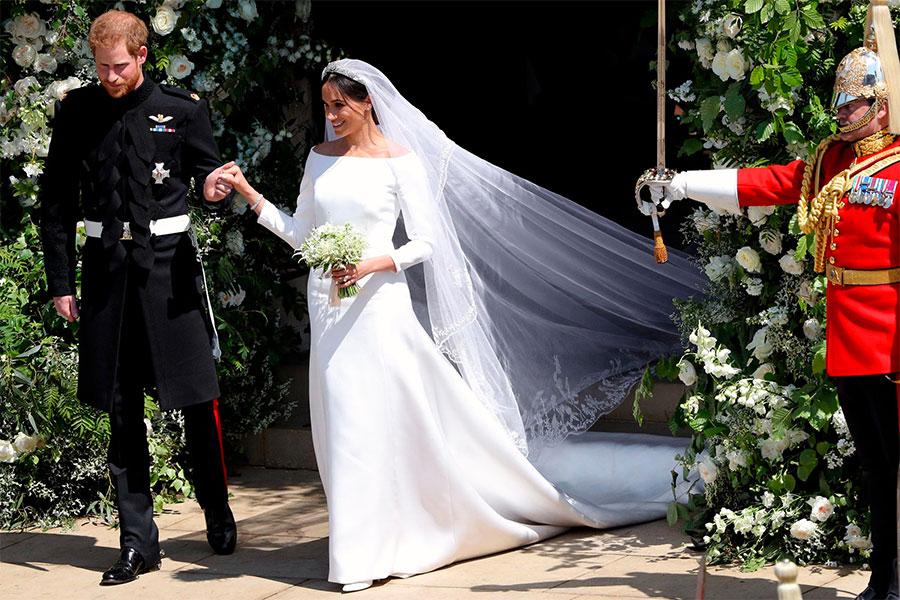 Meghan Markle silk cady wedding dress