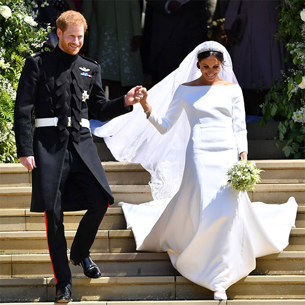 Meghan Markle silk cady wedding dress