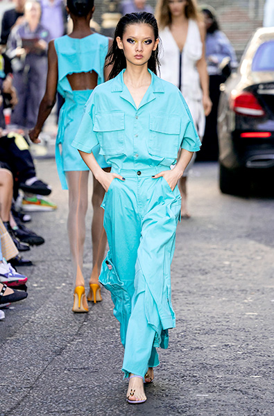 Tanager Turquoise- Natasha Zinko x Duo Ready-to-Wear Spring 2020