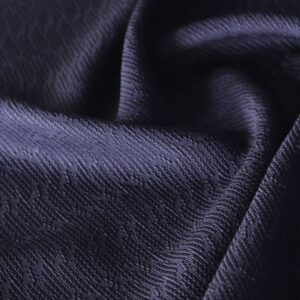 Tissu Jacquard Bleu en Coton, Viscose pour Jupe, Robe, Veste, Veste-Manteau légère.