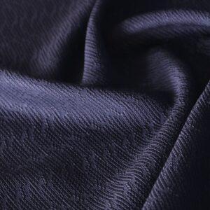 Blue Cotton, Viscose Jacquard fabric for Dress, Jacket, Light Coat, Skirt.