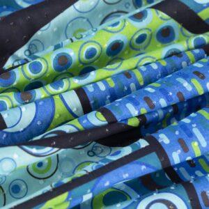 Blue Cotton Polka dot Print fabric for Dress, Shirt.