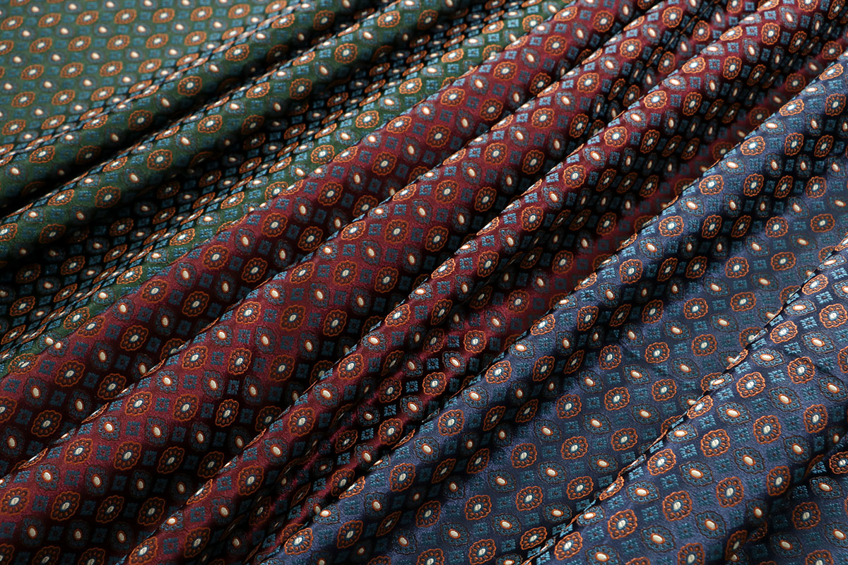 Fabrics with tie motif for women's clothing