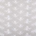 Tissu Dentelle et Broderie Blanc en Polyester pour Robe de mariée.