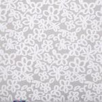 Tissu Jacquard Blanc en Polyester, Soie pour Robe de cérémonie, Robe de mariée.