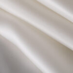 Tissu Uni Organza Blanc en Soie pour Robe de mariée.