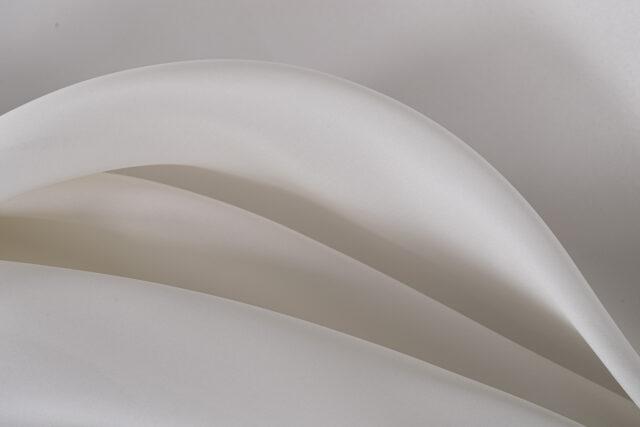 White Silk Plain fabric for Wedding dress.