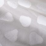 Tissu Jacquard Organza Blanc en Polyester, Soie pour Robe de cérémonie, Robe de mariée.