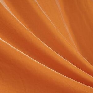 Orange Silk, Viscose Velvet fabric for Dress, Pants, Shirt, Skirt.