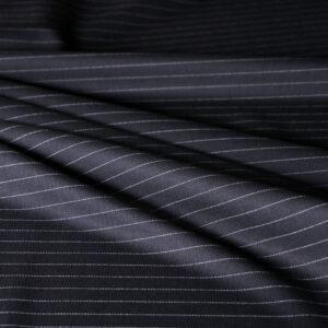 Tissu Tissus pour costumes Noir en Laine pour Jupe, Pantalon, Robe, Veste.