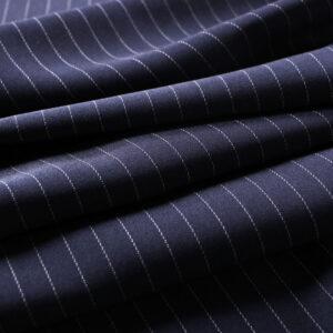 Tissu Tissus pour costumes Bleu en Laine pour Jupe, Pantalon, Robe, Veste.