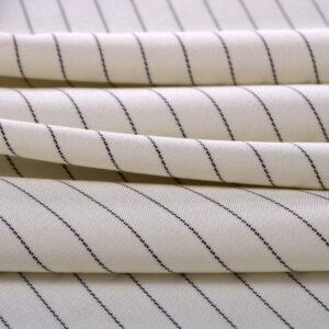 Tissu Tissus pour costumes Blanc en Laine pour Jupe, Pantalon, Robe, Veste.