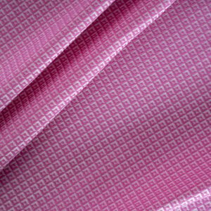 Fuxia Cotton, Polyester Tie Jacquard fabric for Dress, Pants.