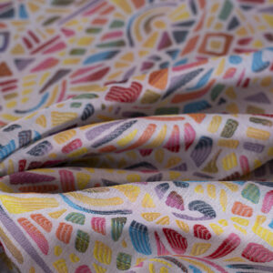 Multicolor Cotton, Polyester, Stretch Jacquard fabric for Dress, Pants, Skirt.