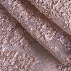 Pink Polyester, Silk Jacquard fabric for Ceremony Dress, Party dress.